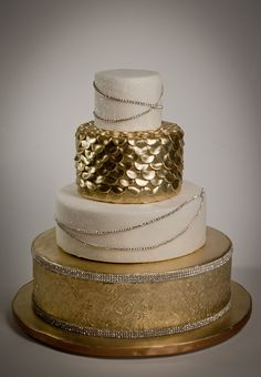 Wedding Cake The Great Gatsby 1920 S Inspired Gorgeous Cakes Amazing Gold