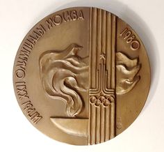 Official Participation Medal XXII Olympic Games in Moscow 1980 Teilnahmenmedaille Olympiade 80 in Moskau by Olympiad80 on Etsy