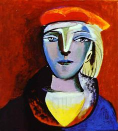 Pablo Picasso (1881-1973) : Portrait of Marie Therese Walter, 1937.