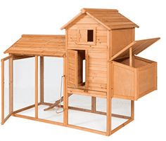 Best Choice Products Outdoor Wooden Chicken Coop Hen House Poultry Cage w/Wire Fence for 4 Birds, Farm - Brown. This chicken coop is designed to not only house chickens but can be used for keeping roosters, rabbits, ducks, or other small animals. Cheap Chicken Coops, Portable Chicken Coop, Chicken Cages, Best Chicken Coop, Backyard Chicken Coops, Chicken Coop Plans, Building A Chicken Coop, Chickens Backyard, Chicken Toys
