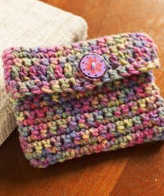 Crochet Change Purse Free Crochet Pattern from Red Heart Yarns