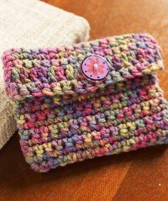 Crochet Change Purse Free Crochet Pattern from Red Heart Yarns