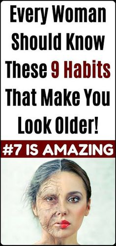 9 HABITS THAT MAKE YOU LOOK OLDER ACCORDING TO EXPERTS Health And Beauty, Health And Wellness, Health Tips, Health Fitness, Health Care, Health Recipes, News Health, For Your Health, Beauty Skin