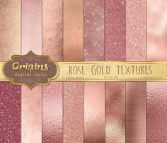Rose Gold Digital Paper by Origins Digital Curio on @creativemarket