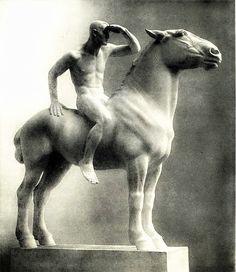 thisblueboy:  Josef Mullner (Austrian, 1879-1968), Naked Rider