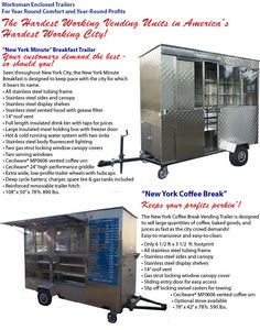Enclosed Food Vending Trailers