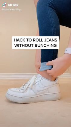 Neat Casual Outfits, Cute Outfits, Trendy Outfits, Diy Fashion Hacks, Fashion Tips, Rolled Jeans, Diy Clothes And Shoes, Diy Clothes Videos, Fashion Mode