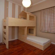 Tree House Bunk Bed, House Beds For Kids, Toddler Bunk Beds, Cool Bunk Beds, Bathroom Design Luxury, Diy Bed, Boy Room, Kids Bedroom, Ikea