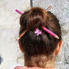 Fotografía Peinado improvisado.