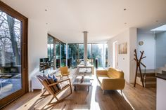 For Sale: The Tree House II, Reberry Grove, London SE26 3 Storey House, Modern Tree House, Sliding Pocket Doors, London Property, Glass Facades, Sustainable Design, Danish Design, Contemporary Furniture, Modern Architecture