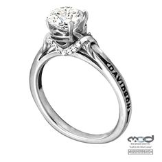Who knew Harley made bridal jewelry? What a pretty engagement ring!