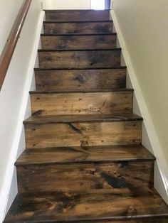 diy wood look vinyl tile on a stair in 2019 for the home rh pinterest com