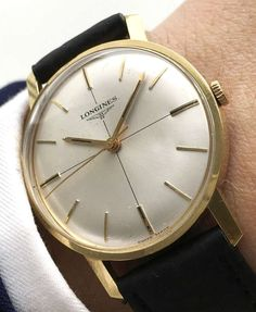 Vintage Longines Watch gold plated Crosshair dial