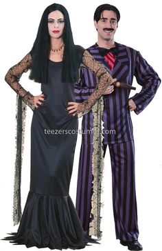 Gomez and Morticia Couples Halloween Costume, Couples Costumes