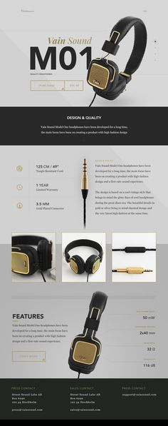 Vain Sound Model One Product Page by ⋈ Samuel Thibault ⋈