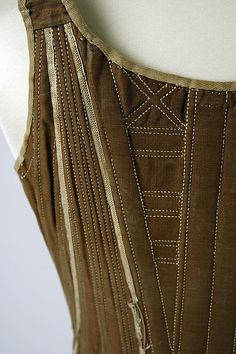 Corset Date: 18th century Culture: American or European Medium: cotton, silk