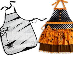 Halloween aprons make a nice ghostess gift Más Costume Halloween, Halloween Apron, Toddler Halloween, Halloween Party Decor, Holidays Halloween, Scary Halloween, Halloween Crafts, Happy Halloween, Cool Aprons