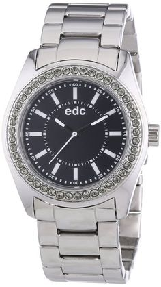 edc by Esprit Damen-Armbanduhr disco glam steel Analog Quarz Edelstahl EE101132002: Amazon.de: Uhren