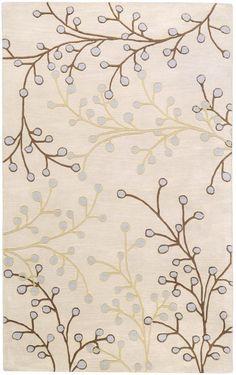 Surya ATH-5008 Athena Hand Tufted Wool Rug Gray 7 1/2 x 9 1/2 Home Decor Rugs Rugs