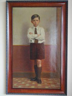 Gaston Victor VanderVeken: zoon van diamanthandelaar. VanderVeken was diamantslijper en in zijn vrije tijd schilderde hij portretten. Deze waarschijnlijk voor zijn Joodse baas.