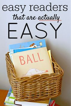 Easy Reader Books That Are Actually Easy from /momandkiddo/