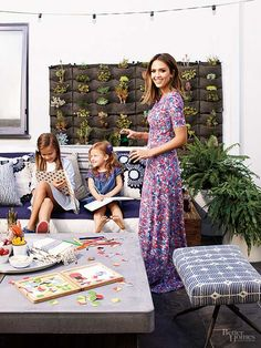 She juggles several careers, nurtures a marriage, and together with husband Cash Warren is raising two daughters. Take a peek inside this eco-entrepreneur, model, and actress' joyfully busy and surprisingly normal life./
