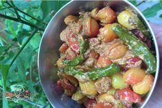 Karonda Mirch Ki Sabzi is a tangy vegetable which is usually used in pickles. Here I have tried to prepare curry with it http://goo.gl/FGg7Oe