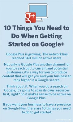 If you want your business to have a presence on Google Plus, there are 10 things you need to do to get started.