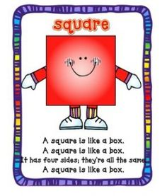 A square is like a box.A square is like a box. It has four sides; they're all the same. A square is like a box.