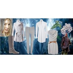 Lothlórien by ithiliel on Polyvore featuring WalG, Alexander McQueen, Ann Demeulemeester, Wallis, J.Crew, lórien, elves, haldir, middleearth and lord of the rings