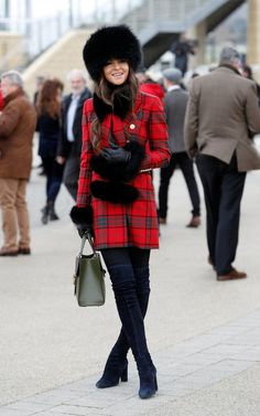 The most stylish - and craziest - looks from day four of Cheltenham Festival Race Day Fashion, Races Fashion, Fur Fashion, Fashion 2020, Autumn Fashion, Fashion Outfits, Race Day Outfits, Races Outfit, Hot Outfits