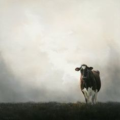 Sold | Black Beauty II the Cow, oil/panel 24 x 24 inch (60 x 60 cm) © 2009 Klimas