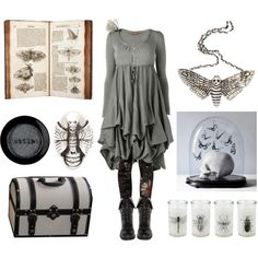 Insect Collector by maggiehemlock on Polyvore featuring Phase Eight, Desigual, DailyLook, The Wildness Jewellery and Stila