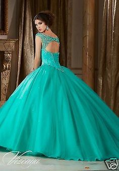 b01cf95029 Beaded Quinceanera Dress Ball Gowns Formal Prom Party Wedding Dresses  Custom