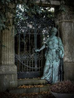 statue and gate
