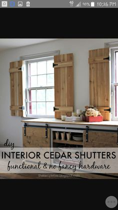 Make charming window shutters for 10 Design Dreams by Anne