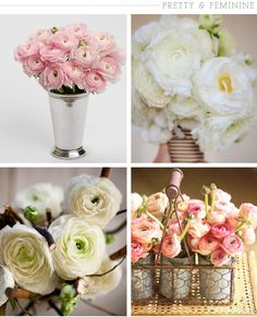 Ranunculus- one of my favorite flowers! Gorgeous in wedding centerpieces and bouquets.