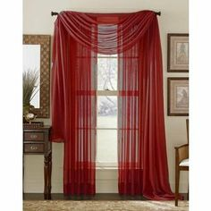 """HLC.ME 3 Piece Brick Sheer Voile Curtain Set: 2 Brick Panels and 1 Scarf by HLC.ME. $17.99. 3 Piece Sheer Voile Panel Set. 2 Sheer Voile Panels are included (60"""" x 84""""). 1 Scarf is included (60""""x216""""). Each panel is approximately 60"""""""" wide and 84"""""""" in Length. For a full look use 2 panels to cover a standard size window. This picture shows two sheer panels, this package contains two (2) Sheer Panel and 1 Scarf which measures 60"""" x 216"""" Inches. Decorate every wi..."""