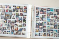 year in review idea -- print as 12x12 for project life -- simply white - the squares v1 photo collage templates ==> tracy-larsen.com/blog/shop - project life 2013 creative team