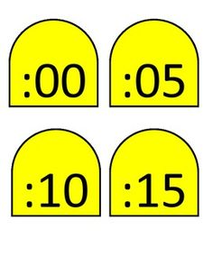 Sunflower Clock Template to create an anchor chart for how to tell time