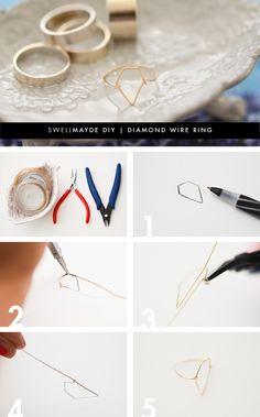 DIY: diamond wire ring