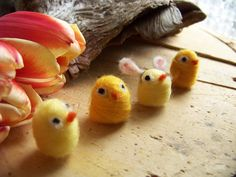 Needle Felted Easter Chicks Made to Order by peachesproducts, $13.00