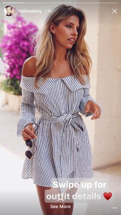 This is one of the summer sundresses that is nautical and preppy. outfits The Cutest Summer Sundresses That Can Be Worn For Anything White Summer Outfits, Summer Outfits Women 30s, Simple Outfits, Spring Outfits, Trendy Outfits, Summer Holiday Outfits, Holiday Outfits Women, Summer Vacation Outfits, Summer Dress Outfits