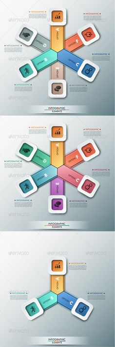 Moderne Infographic Options Circle Template | Infographic ...