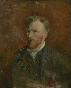 Vincent van Gogh painted 'Self-portrait with Glass' in January 1887. http://www.vangoghmuseum.nl/en/collection/s0161V1962   Image: Vincent van Gogh (1853 – 1890), Self-portrait with Glass, 1887, Van Gogh Museum, Amsterdam (Vincent van Gogh Foundation)