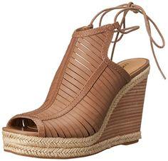 52857b4eae08ba Lucky Womens Laceey Wedge Sandal Sesame 85 M US  gt  gt  gt  Details