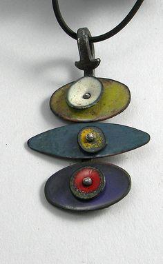 Items similar to Enameled pendant on Etsy