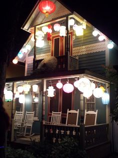 An Urban Cottage: Oak Bluffs, Martha's Vineyard Illumination Night