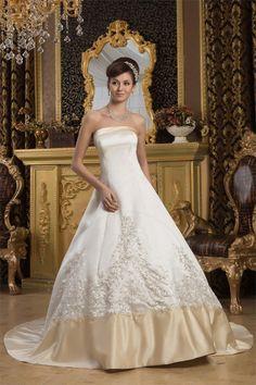 Abito da Sposa alta vita Senza Maniche Cerniera senza strap Principessa