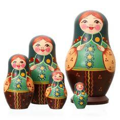 Russian Dolls - Traditional Dolls - Russian Doll, 5 Piece, 10cm by Tania Andreyev - Artyfax